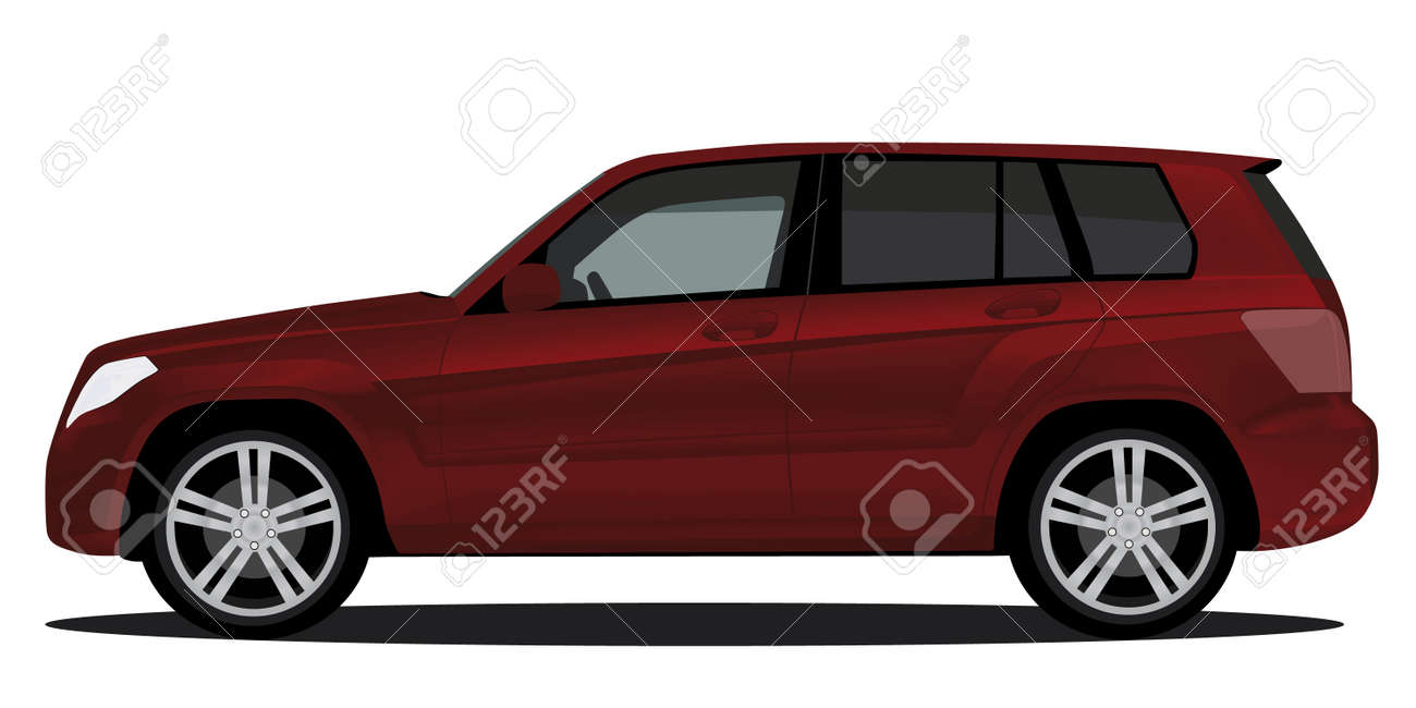 Suv Car Isolated On White Royalty Free Cliparts Vectors And