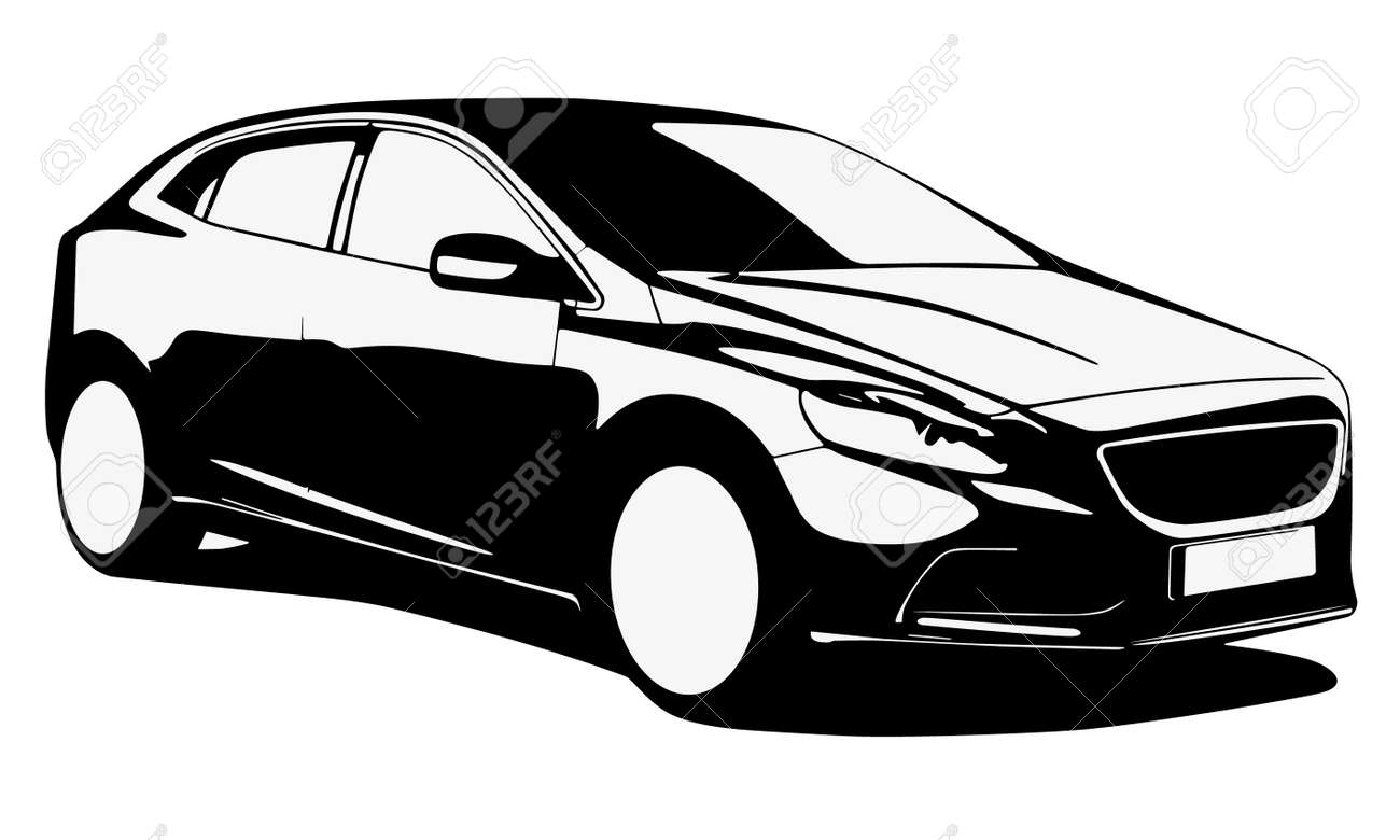Modern Car Silhouette Royalty Free Cliparts, Vectors, And Stock ...