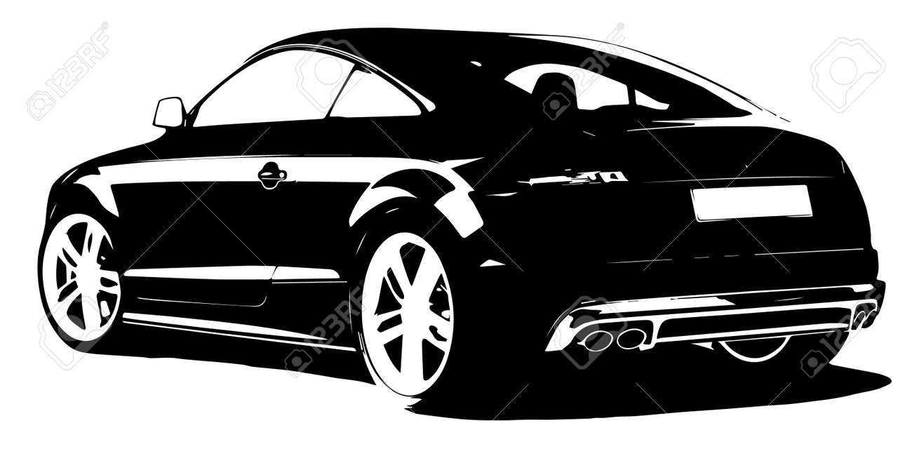 modern car silhouette royalty free cliparts vectors and stock