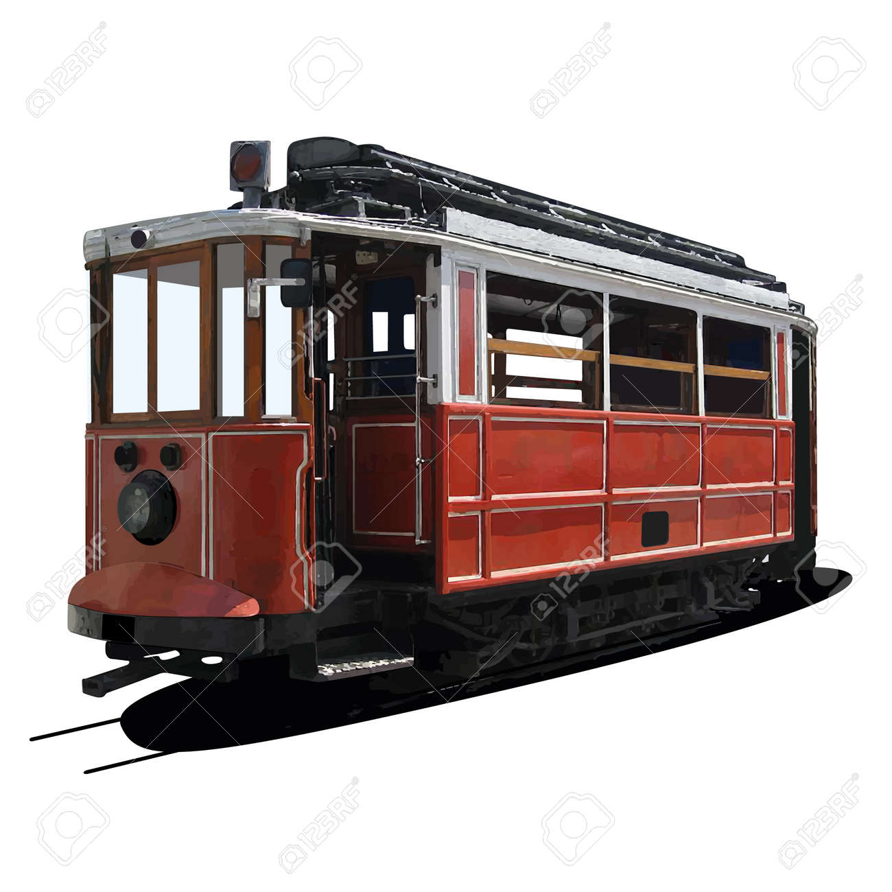 abstract illustration of a tram - 16196053
