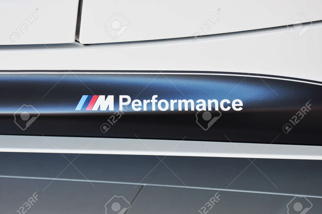 Munich December 11 Bmw M Performance Logo At Bmw Car Show On Stock Photo Picture And Royalty Free Image Image 16817197