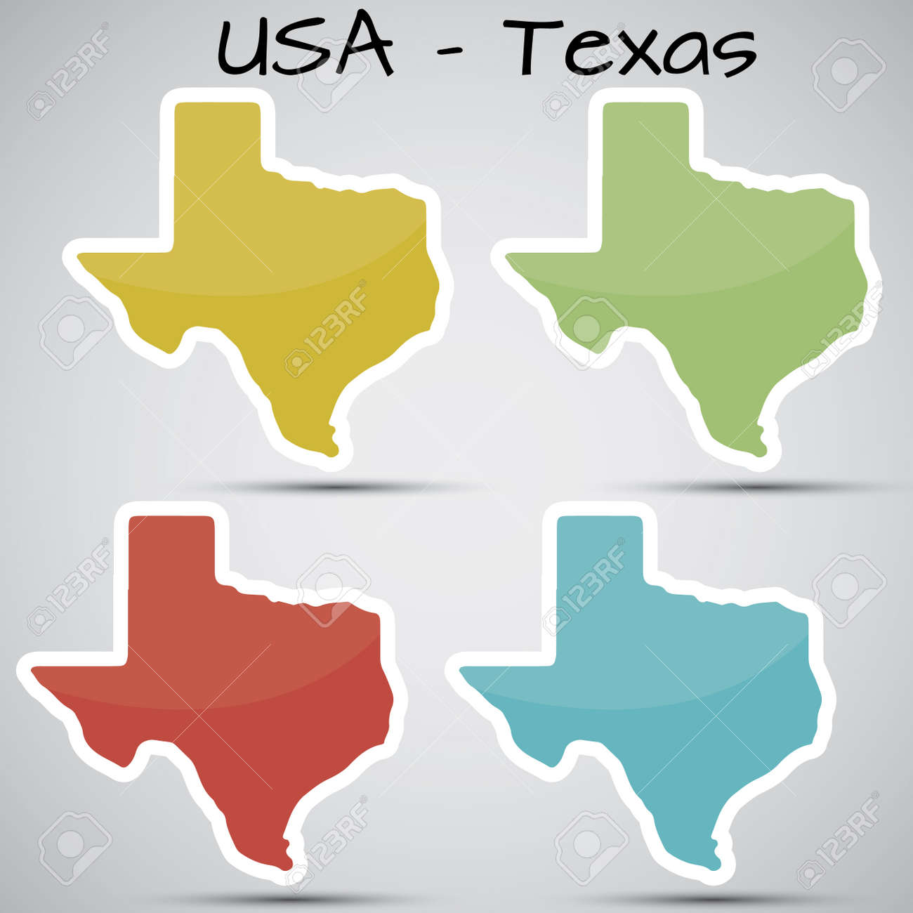 stickers in form of Texas state, USA - 21633671