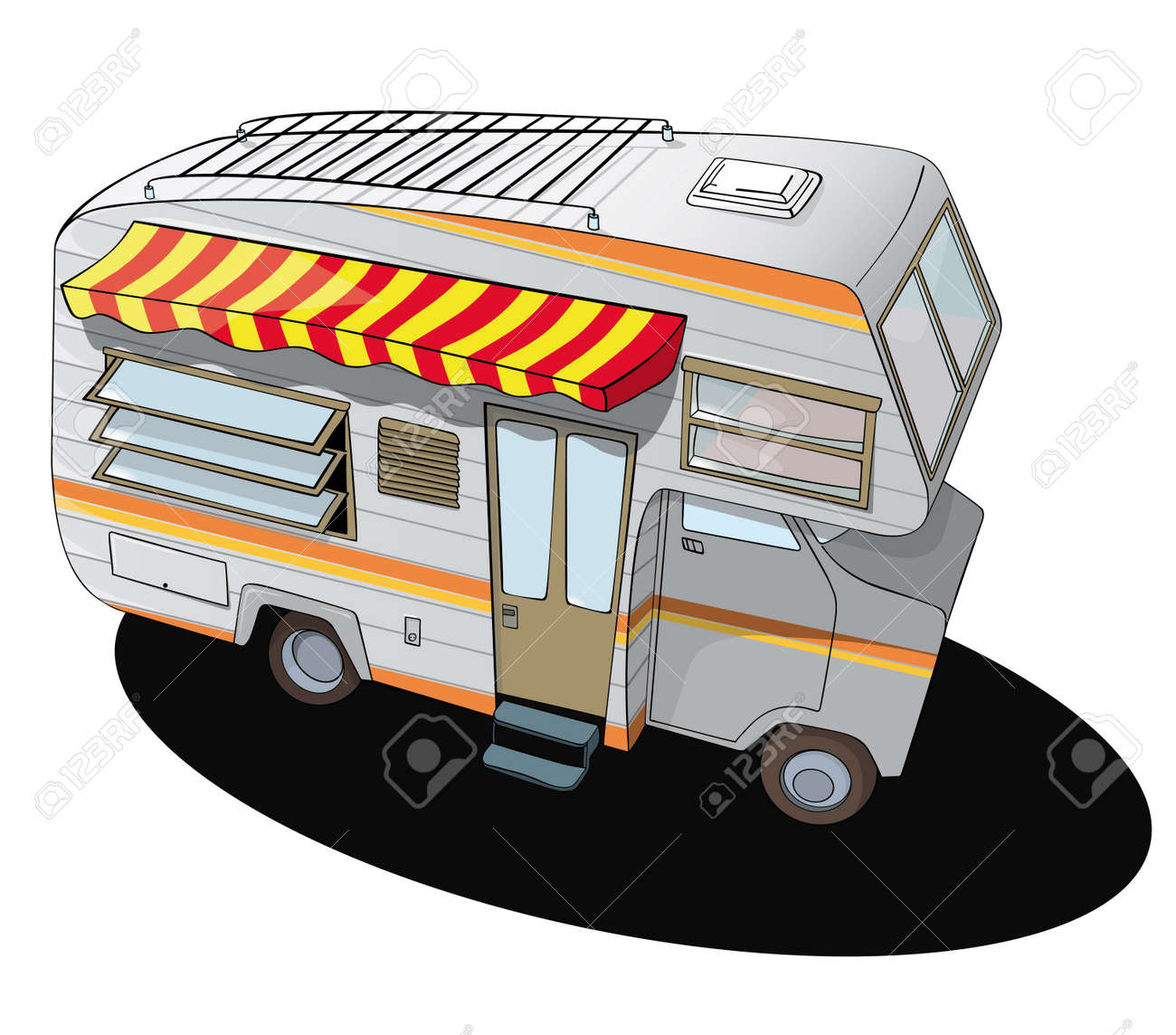 Comic Style Camper Van Stock Vector