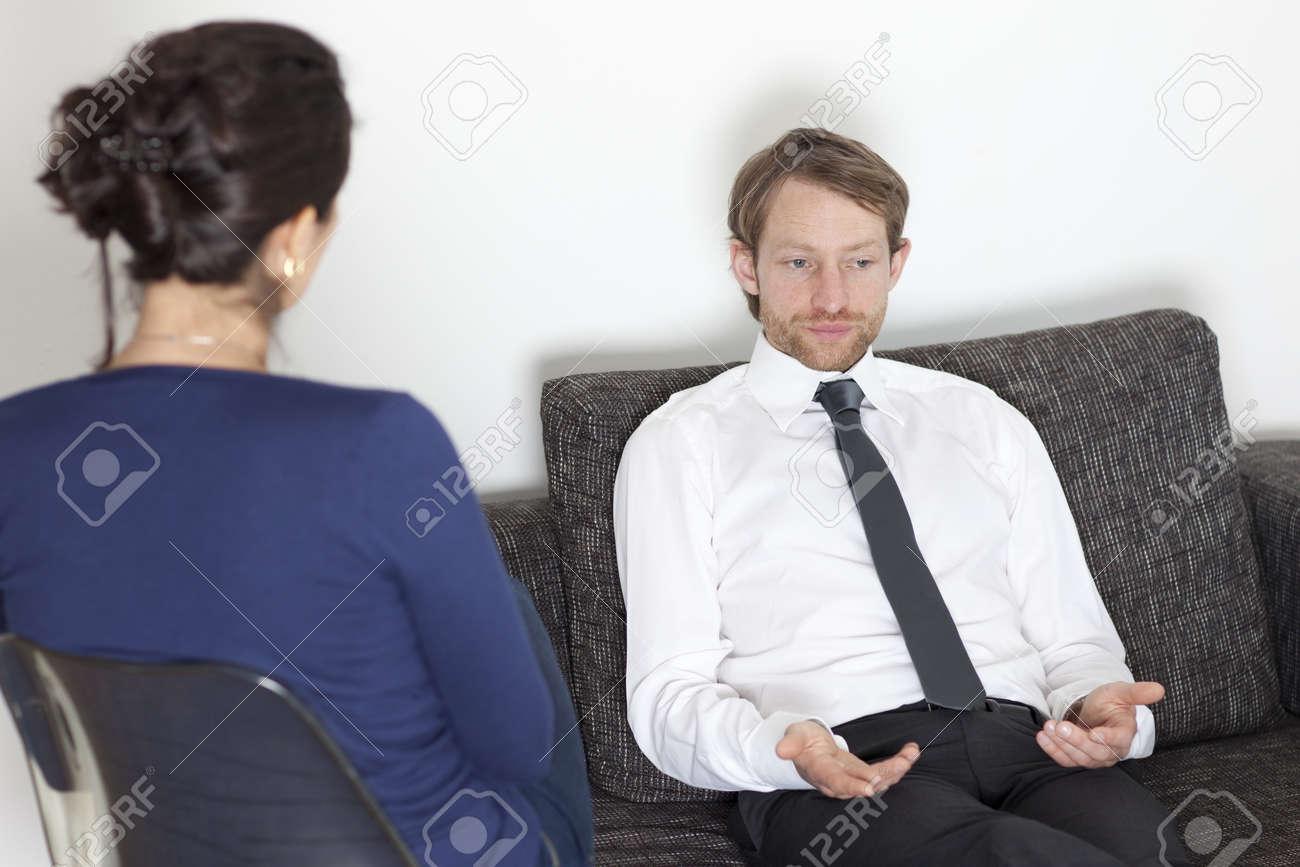 Businessman at psychoanalysis Stock Photo - 15277283