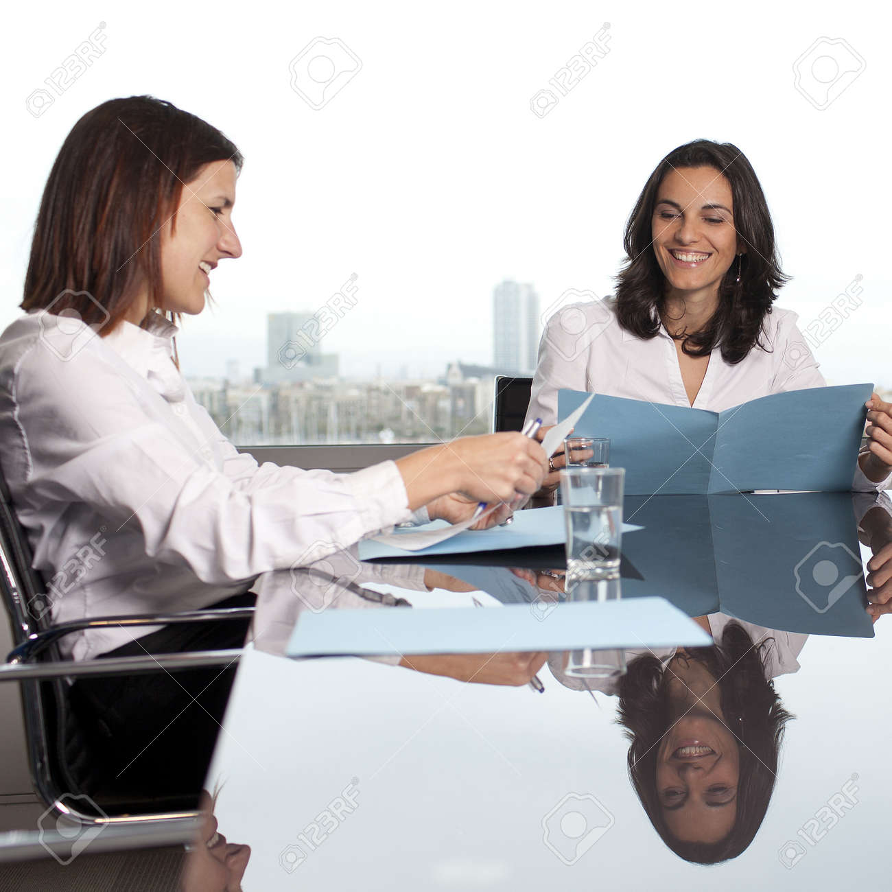 Recruiter checking the candidate during job interview Stock Photo - 16449107