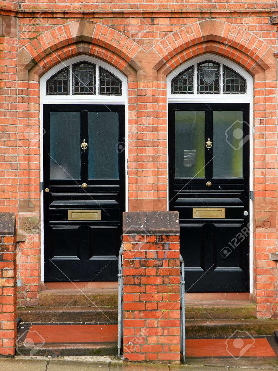 Black Doors in Belfast Stock Photo - 53755668 & Black Doors In Belfast Stock Photo Picture And Royalty Free Image ...