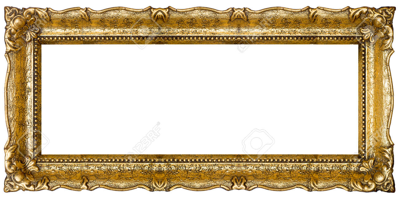 Verry Big Old Gold Picture Frame, Isolated On White - Extra Large ...