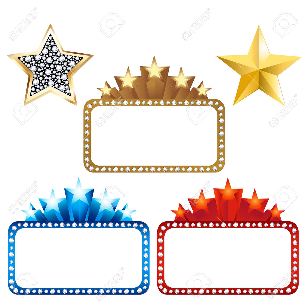 Broadway Lights Border Clipart With Stars And   clipart