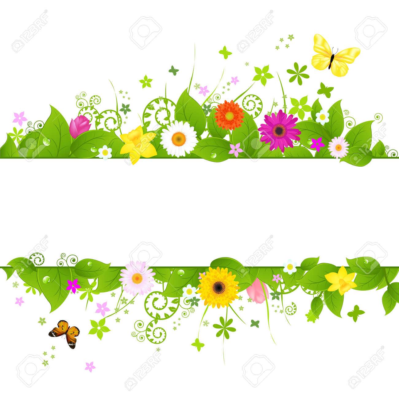 春の背景、白の背景、ベクトル イラスト上に分離されて ロイヤリティ