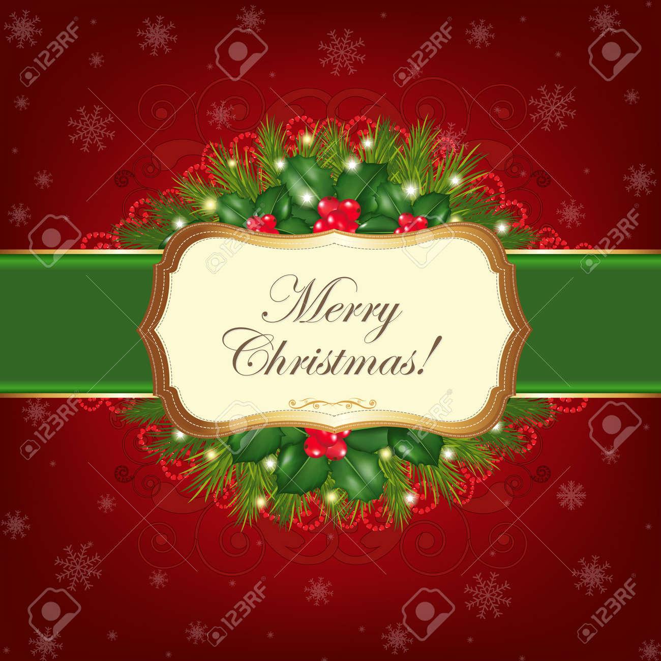 Christmas Greeting Card, Vector Illustration Stock Vector - 11309034