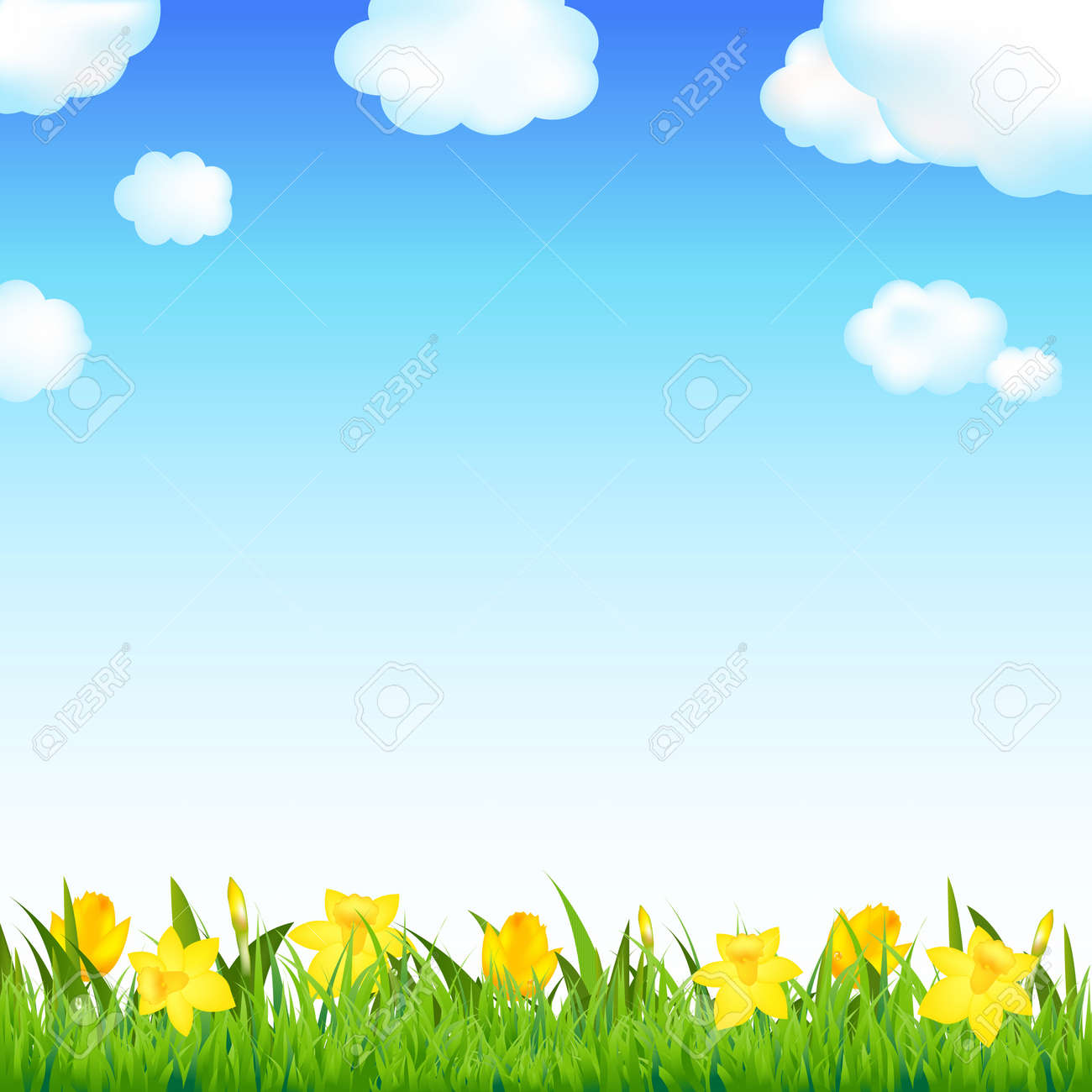 sky border clipart. flower meadow with grass and cloud illustration stock vector 12487216 sky border clipart a