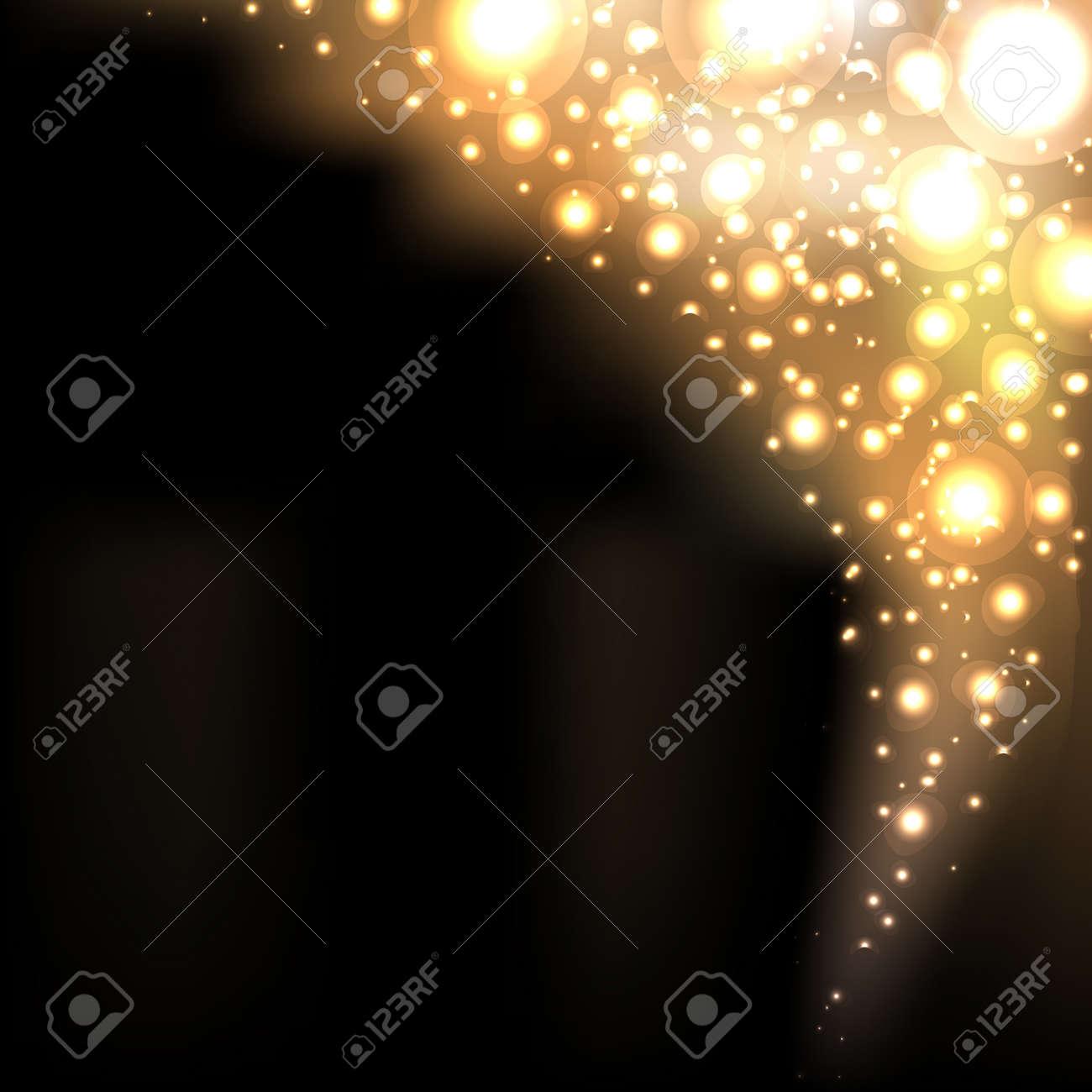 Gold Abstract Dark Elegant Background Stock Vector - 14230357