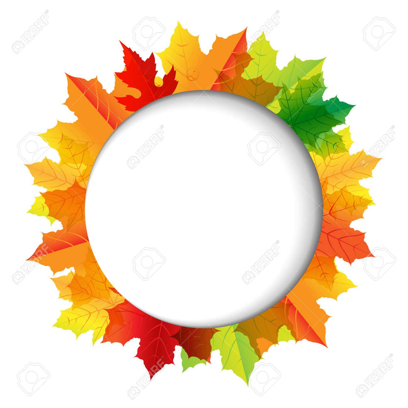 Autumn Composition With Speech Bubble Illustration Stock Vector - 15069802