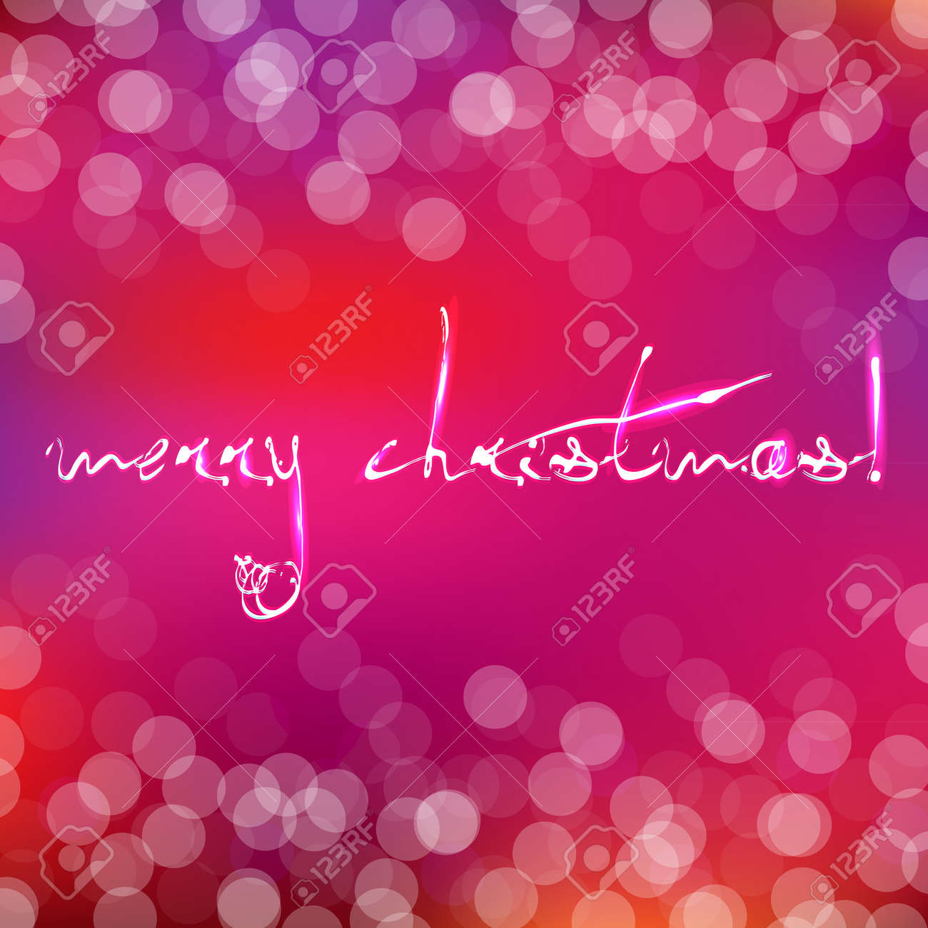 Pink Christmas Card With Bokeh, Illustration Stock Vector - 15792849
