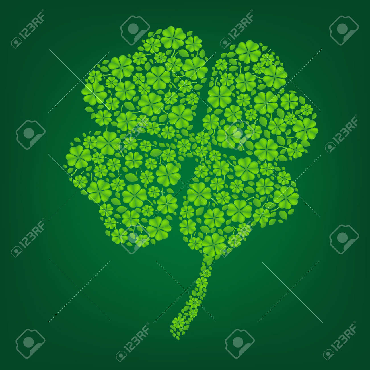 Green Clover With Gradient Mesh, Vector Illustration Stock Vector - 17779075