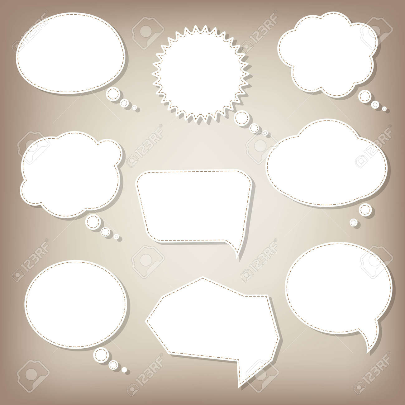 Abstract Speech Bubbles With Gradient Mesh, Vector Illustration - 19714033