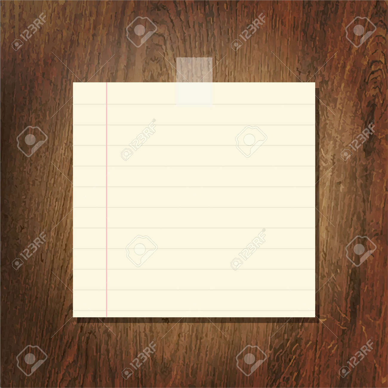 Note Papers On Wooden Background, Vector Illustration Stock Vector - 19714031