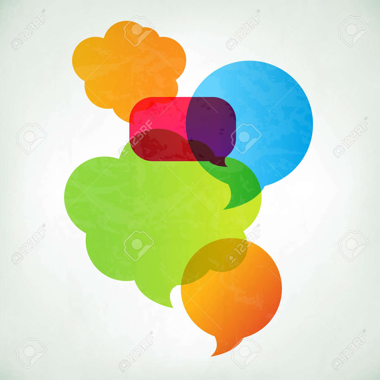 Colorful Vector Speech Bubbles With Gradient Mesh, Vector Illustration - 21902859