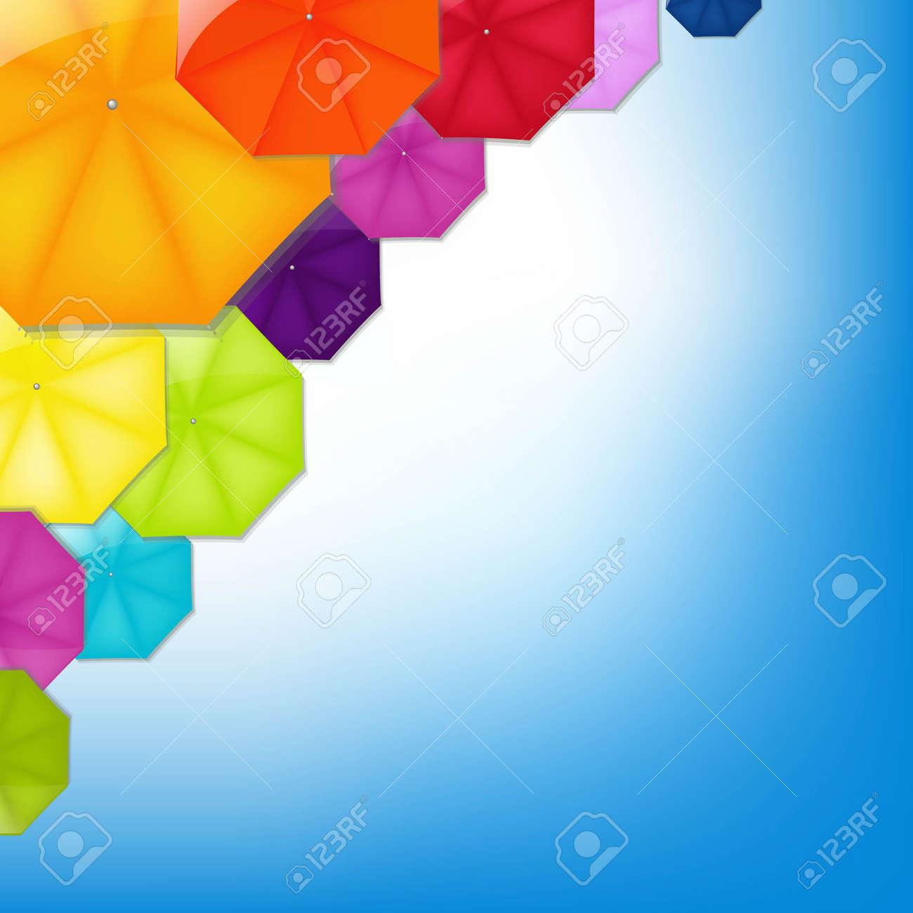 Color Umbrellas With Gradient Mesh, Vector Illustration - 21902869