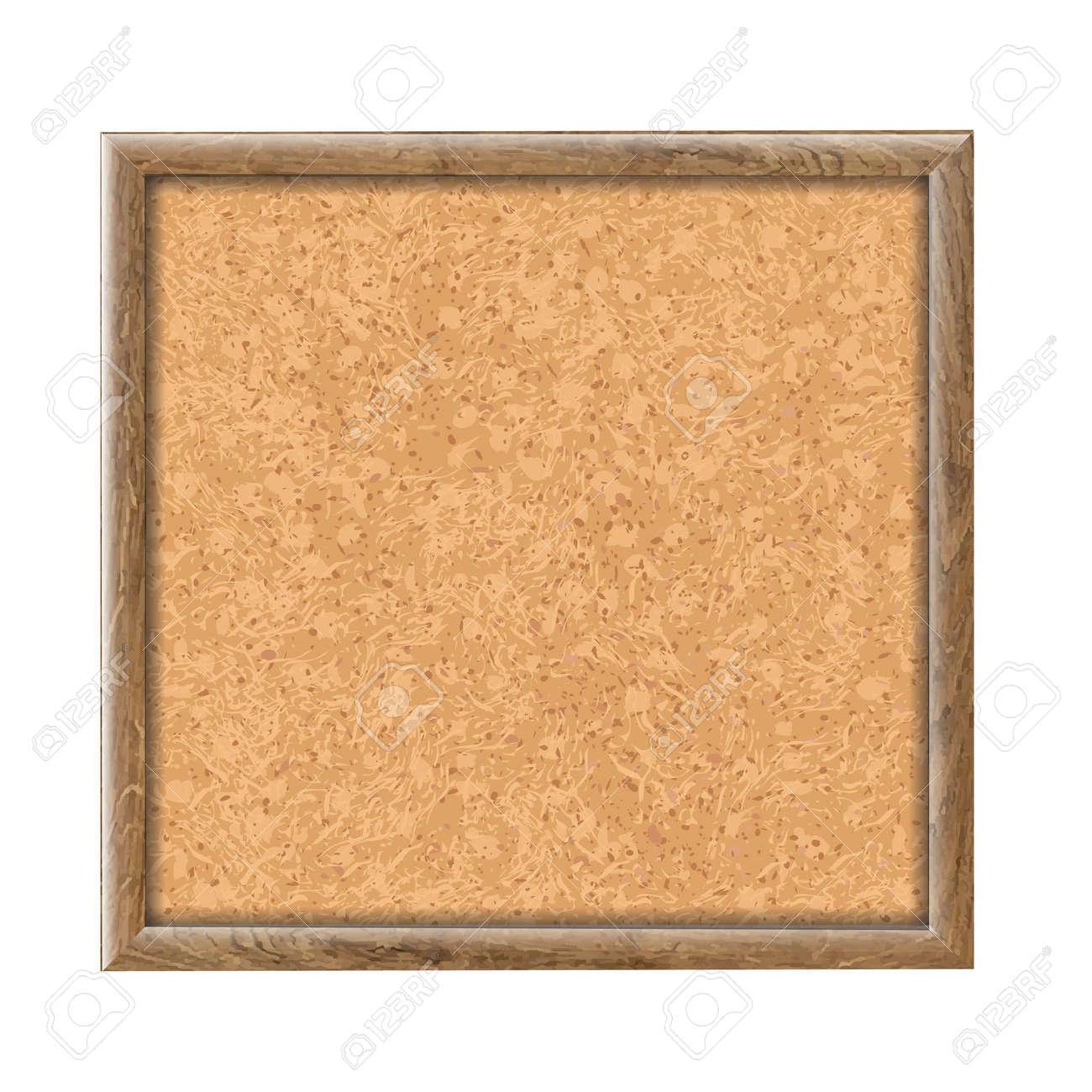 Cork Board Wooden Texture, Vector Illustration - 21902870