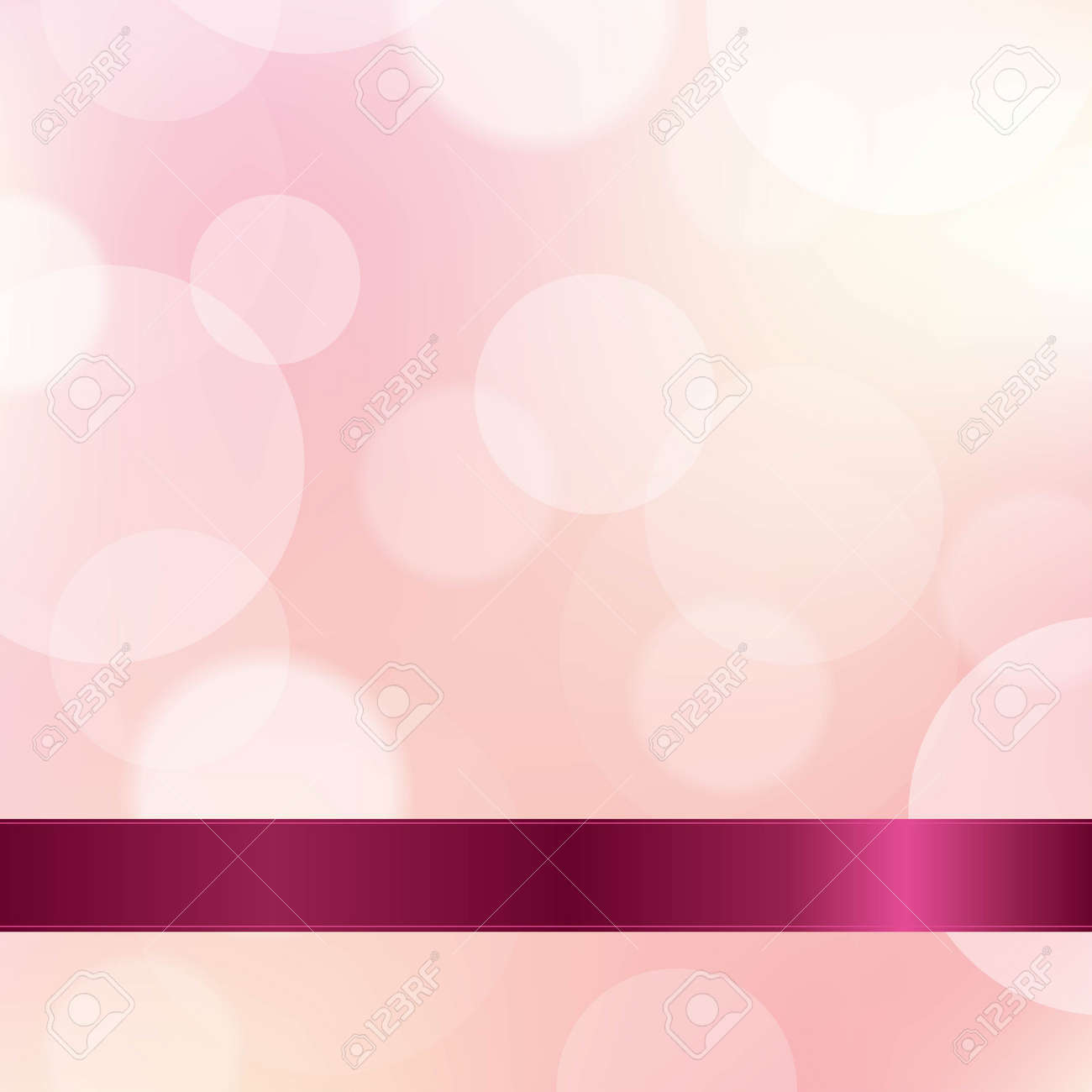 Pink Color Background With Ribbon, With Gradient Mesh, Vector Illustration - 23660380