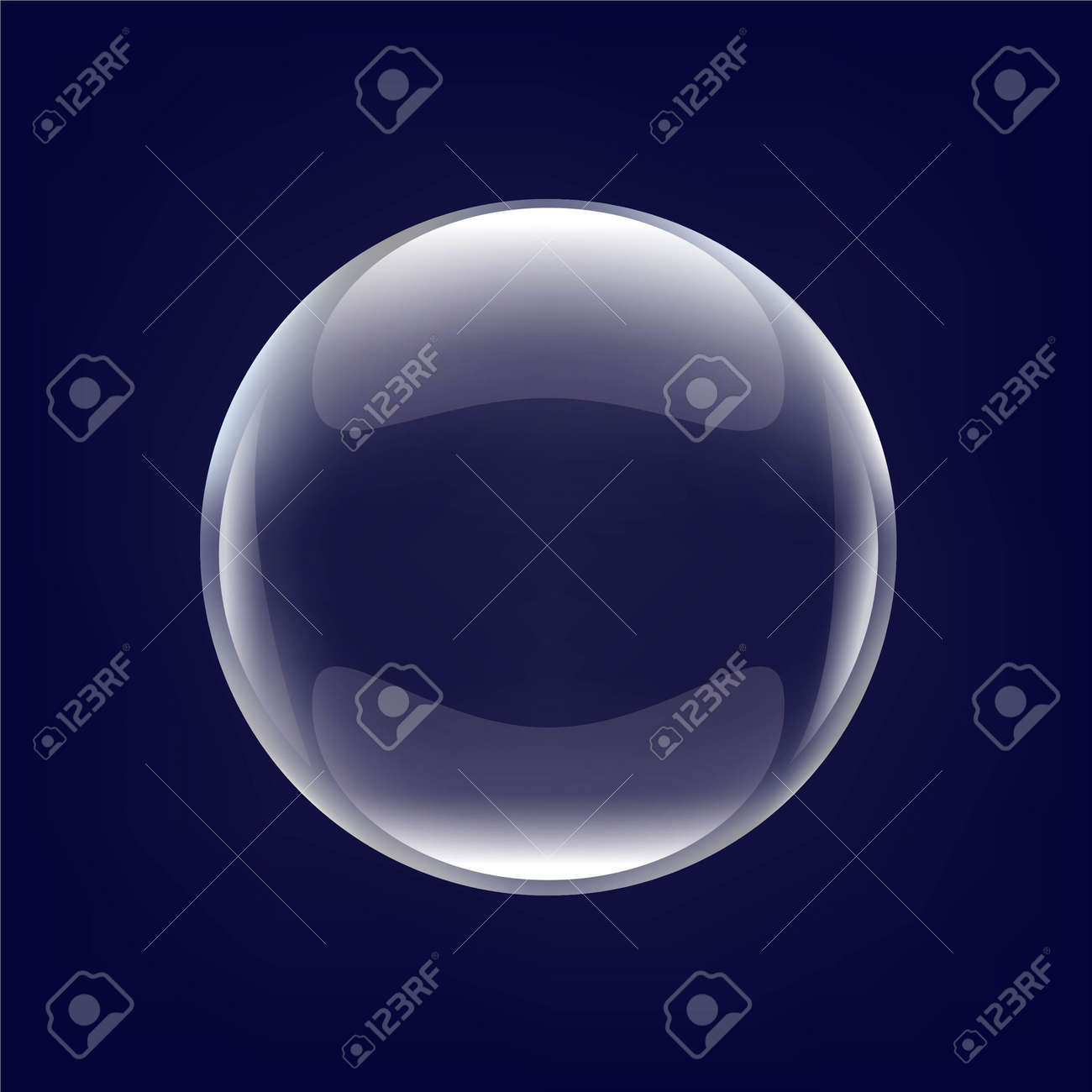 Glass Ball With Blue Background, With Gradient Mesh, Vector Illustration - 25994859