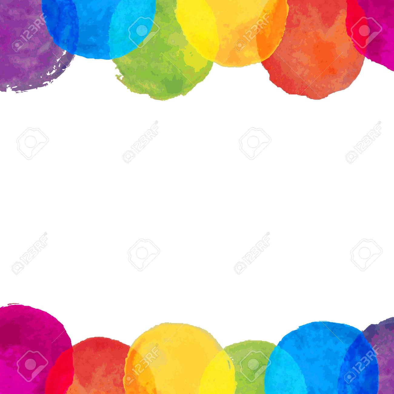 Watercolor Blot Frame Illustration - 28871607