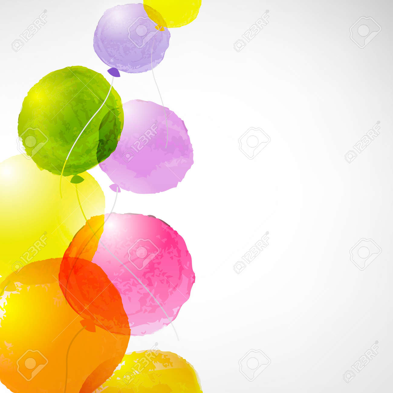 Watercolor Balloons, With Gradient Mesh, Vector Illustration - 29835881
