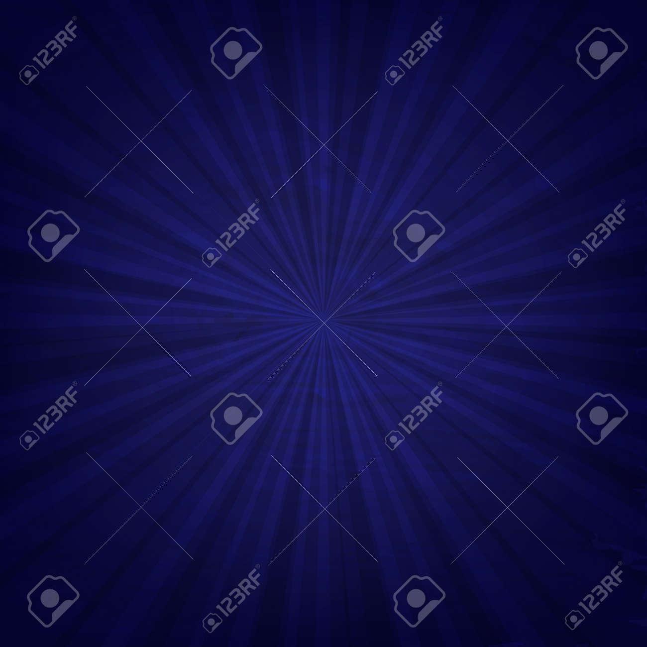 Vintage Blue Sunburst Poster With Gradient Mesh, Vector Illustration - 34581751