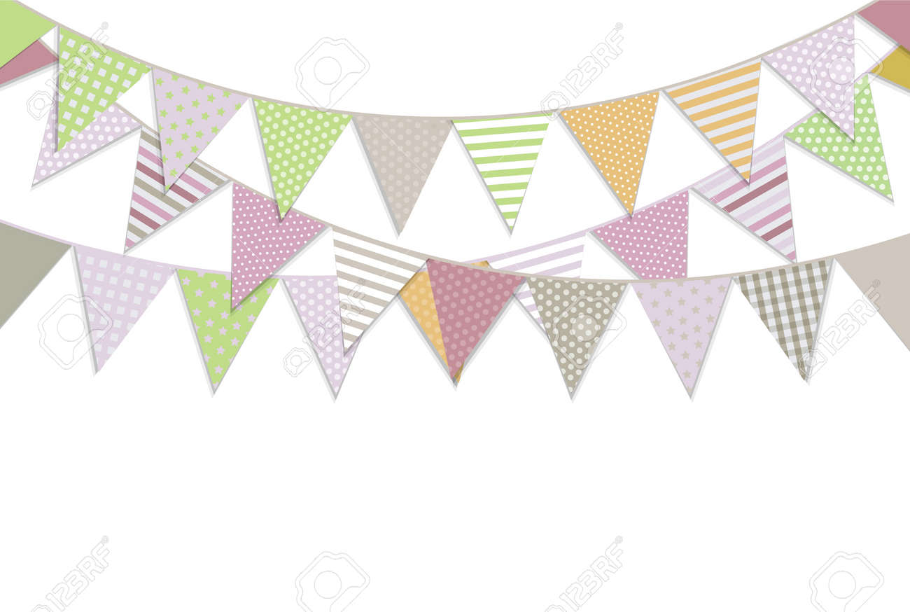 Bunting Flags, Vector Illustration - 54790717