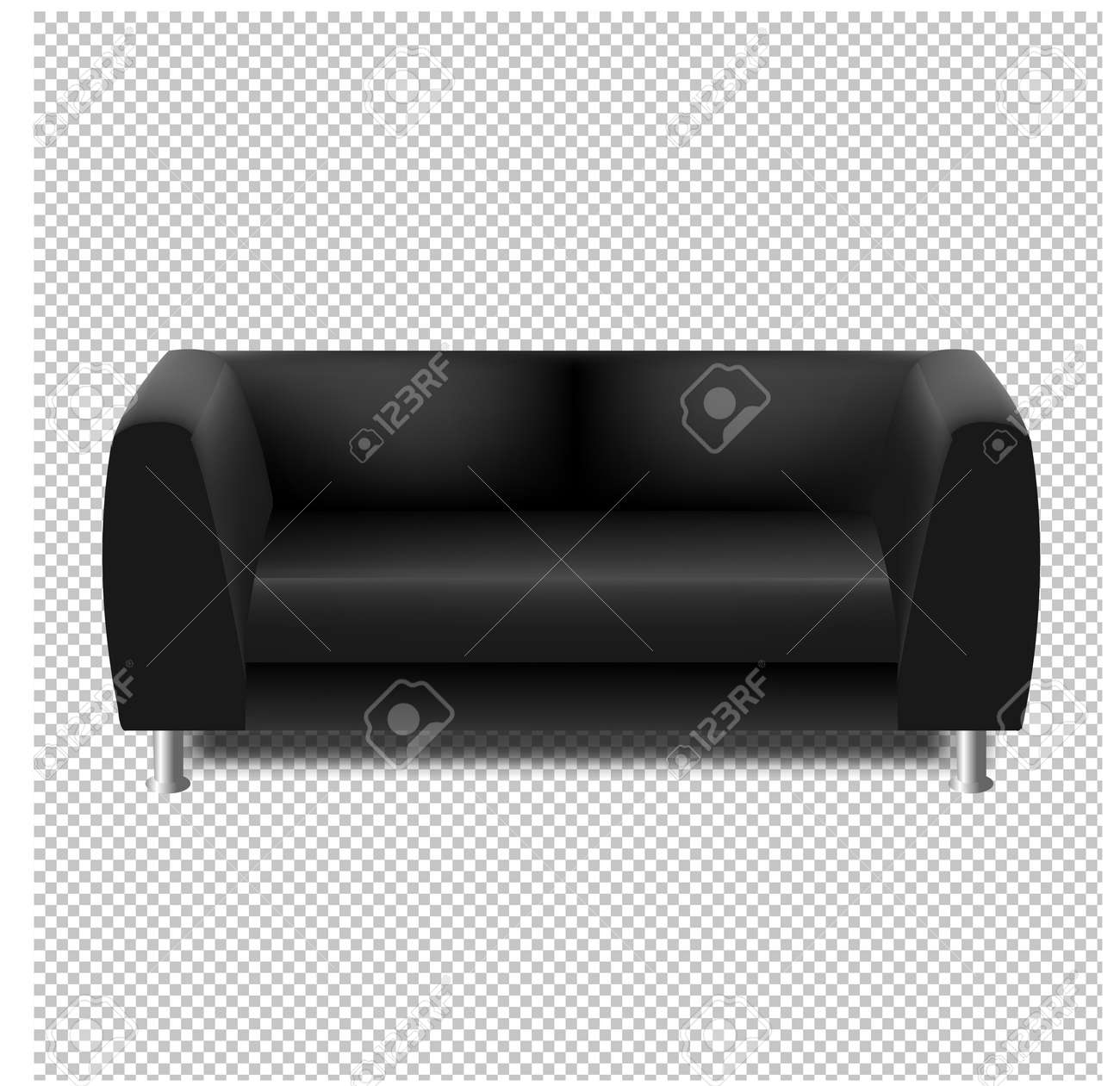Groovy Black Sofa Isolated Transparent Background With Gradient Mesh Pabps2019 Chair Design Images Pabps2019Com