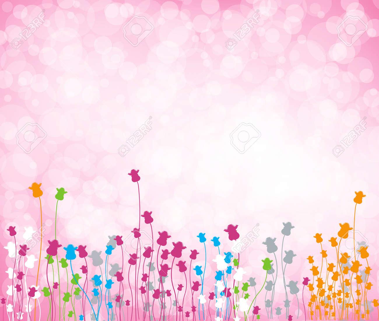 Fondo Flores Vector