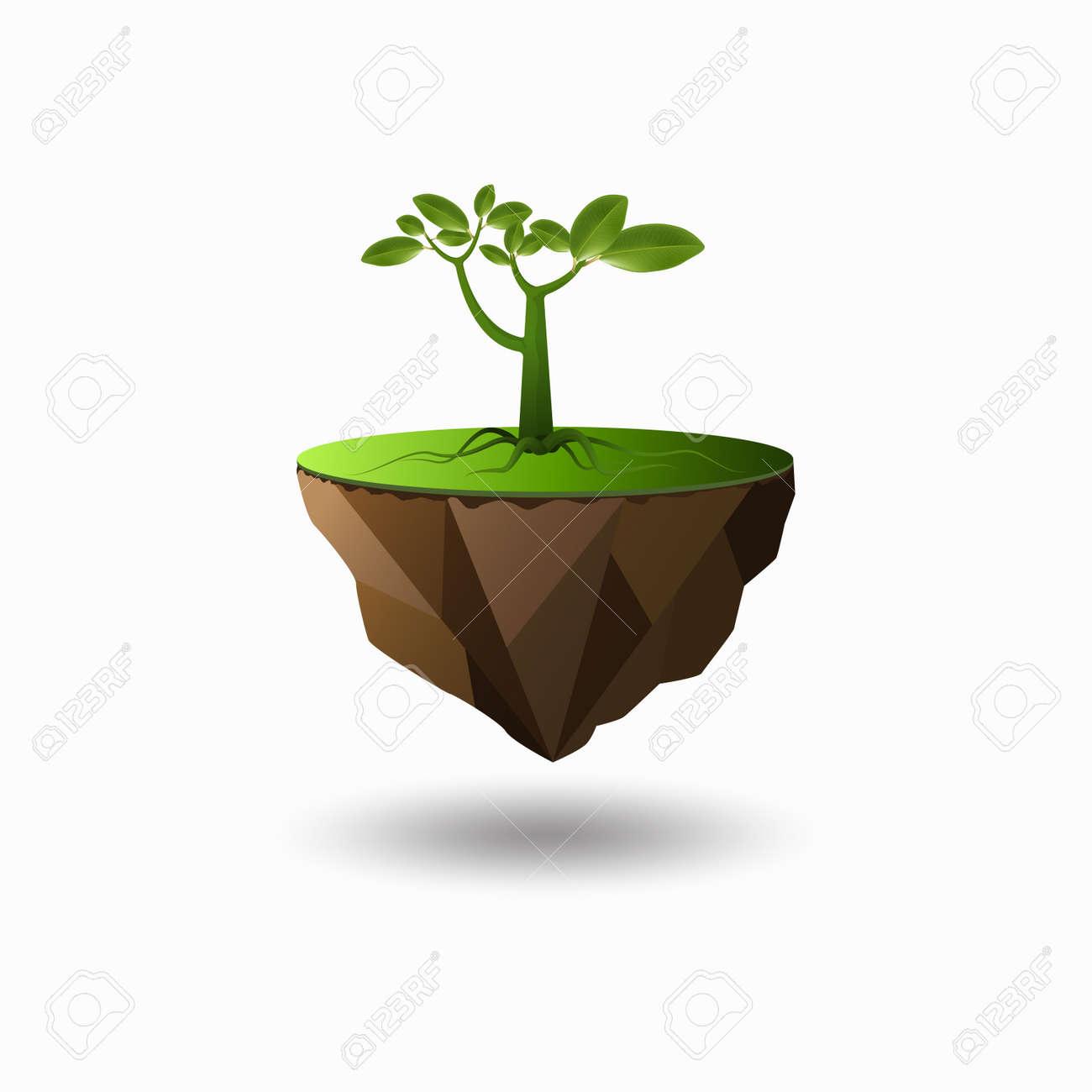 Boom Is De Essentie Van Al Het Leven Op Aarde Concept Geïsoleerd Op Een Witte Achtergrond Vectorillustratie