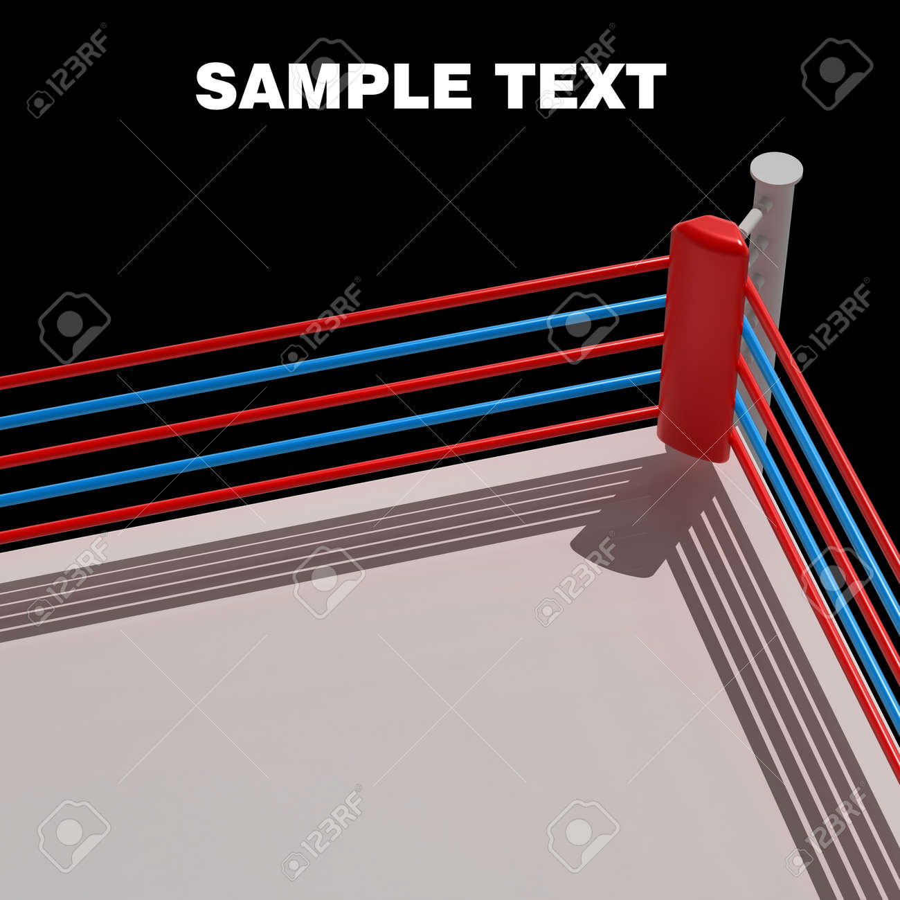 Boxing ring background - 3d render high resolution Stock Photo - 12980326