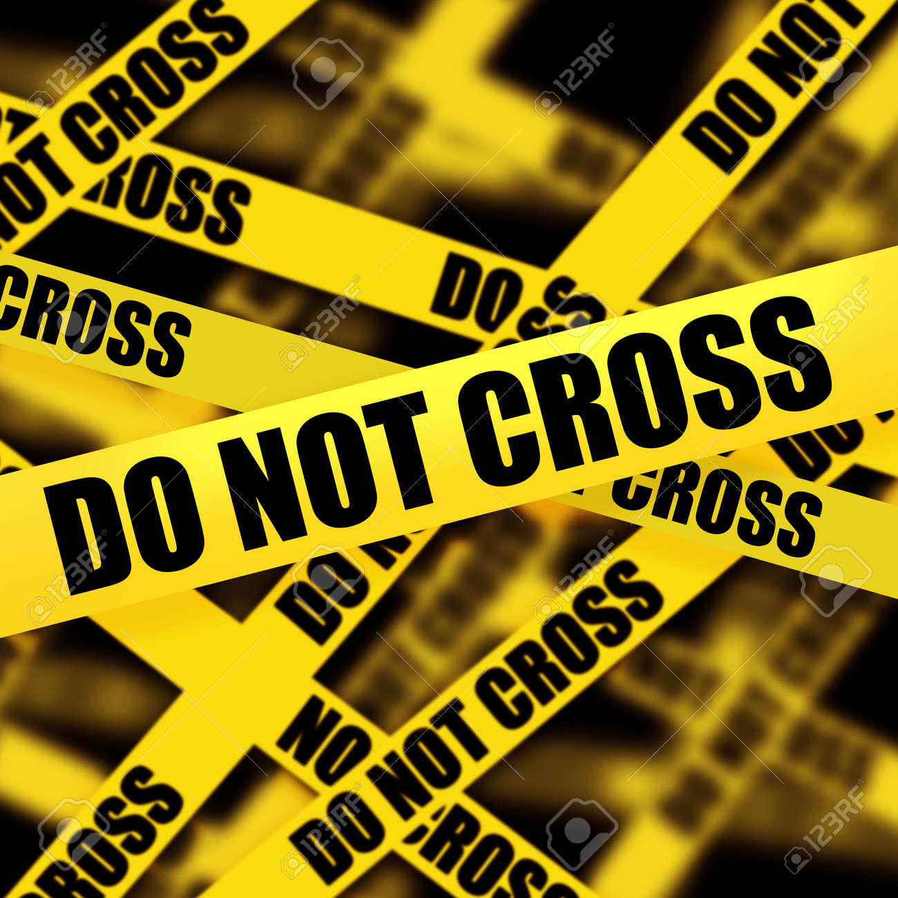 caution tape with do not cross background high resolution stock