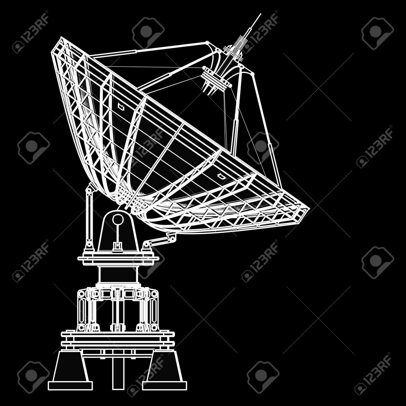 Satellite Dishes Antenna Doppler Radar Black Cartoon - Hawaii radar doppler