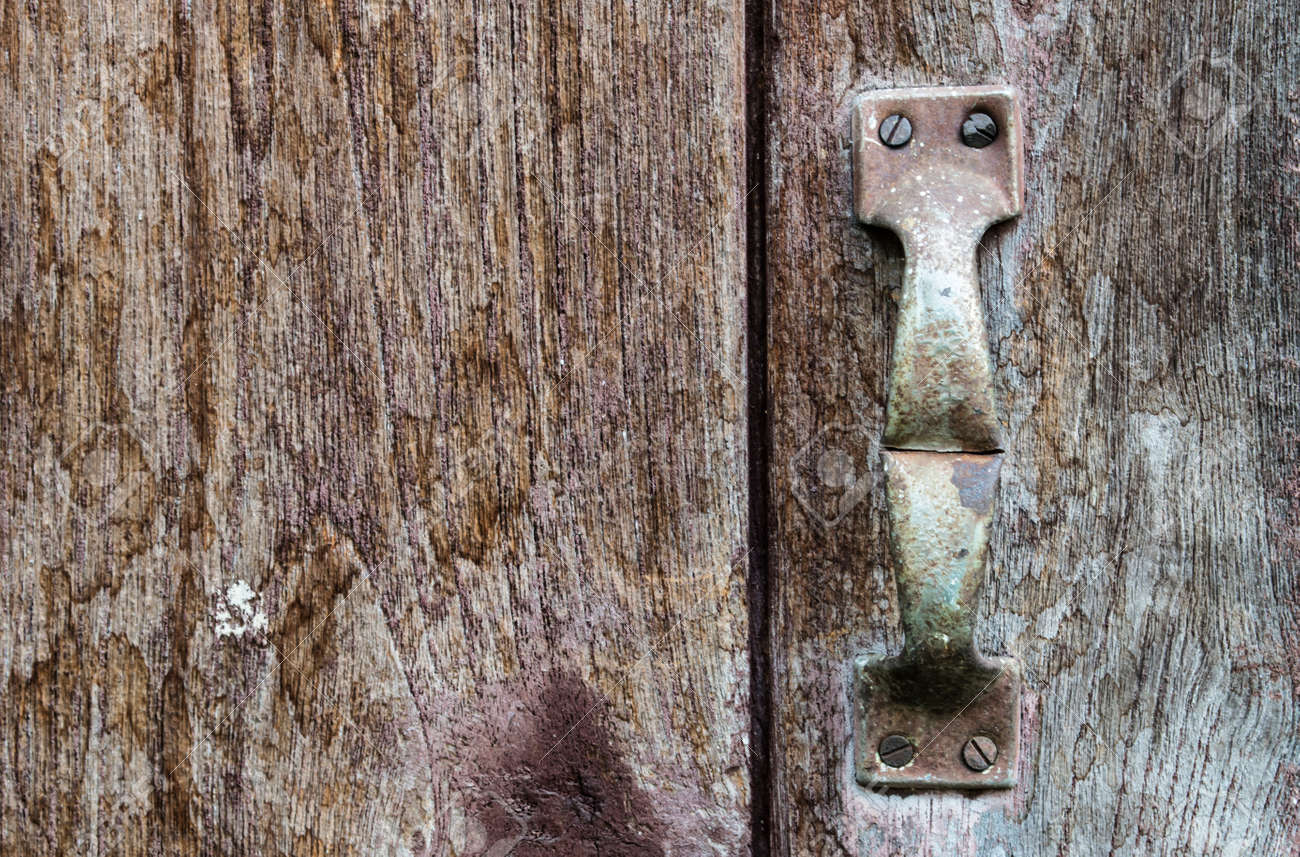 Old Barn Door With Rusty Handle Stock Photo Picture And Royalty