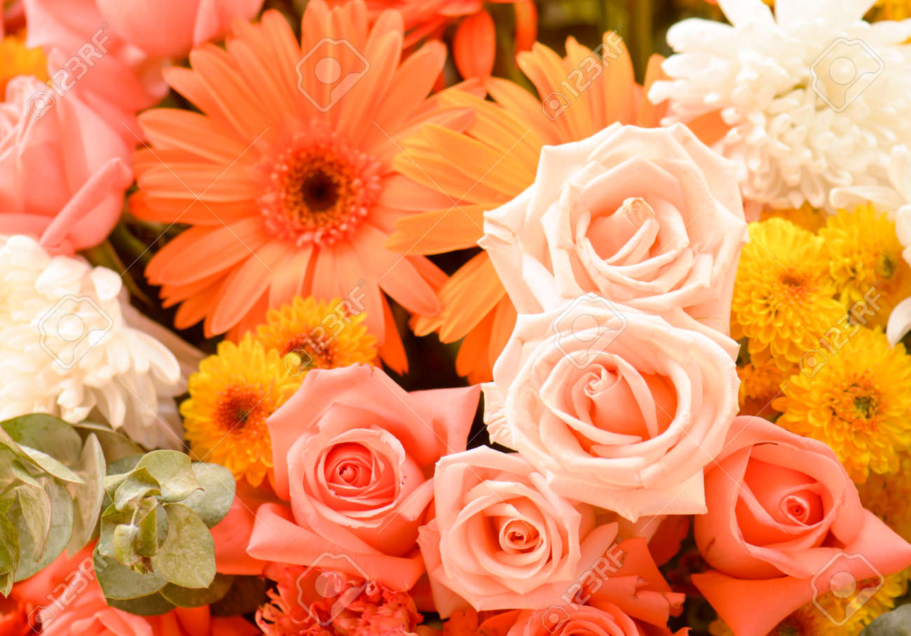 Flower bouquets bunch of flowers stock photo picture and royalty flower bouquets bunch of flowers stock photo 34802100 izmirmasajfo Images