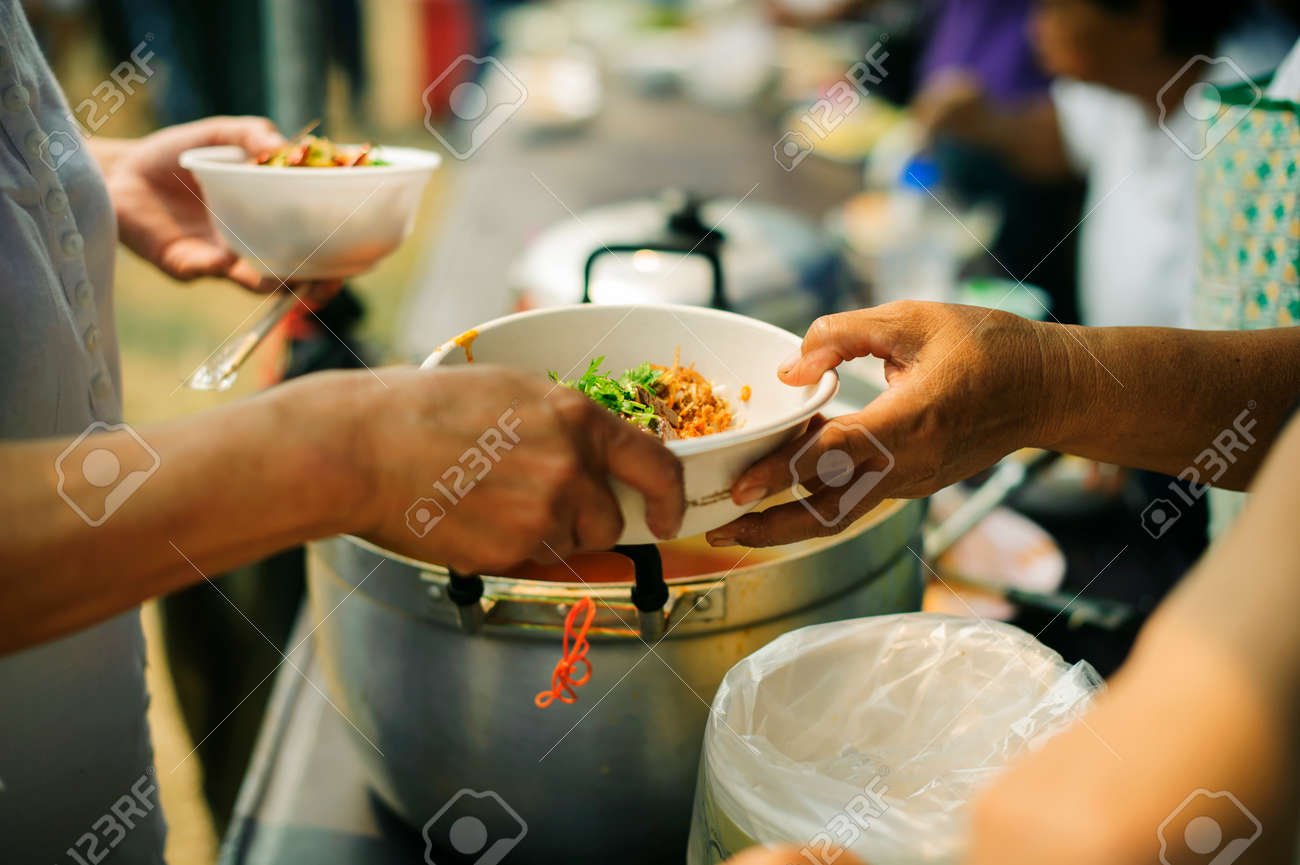 Concept of food sharing for the poor to alleviate hunger : Social
