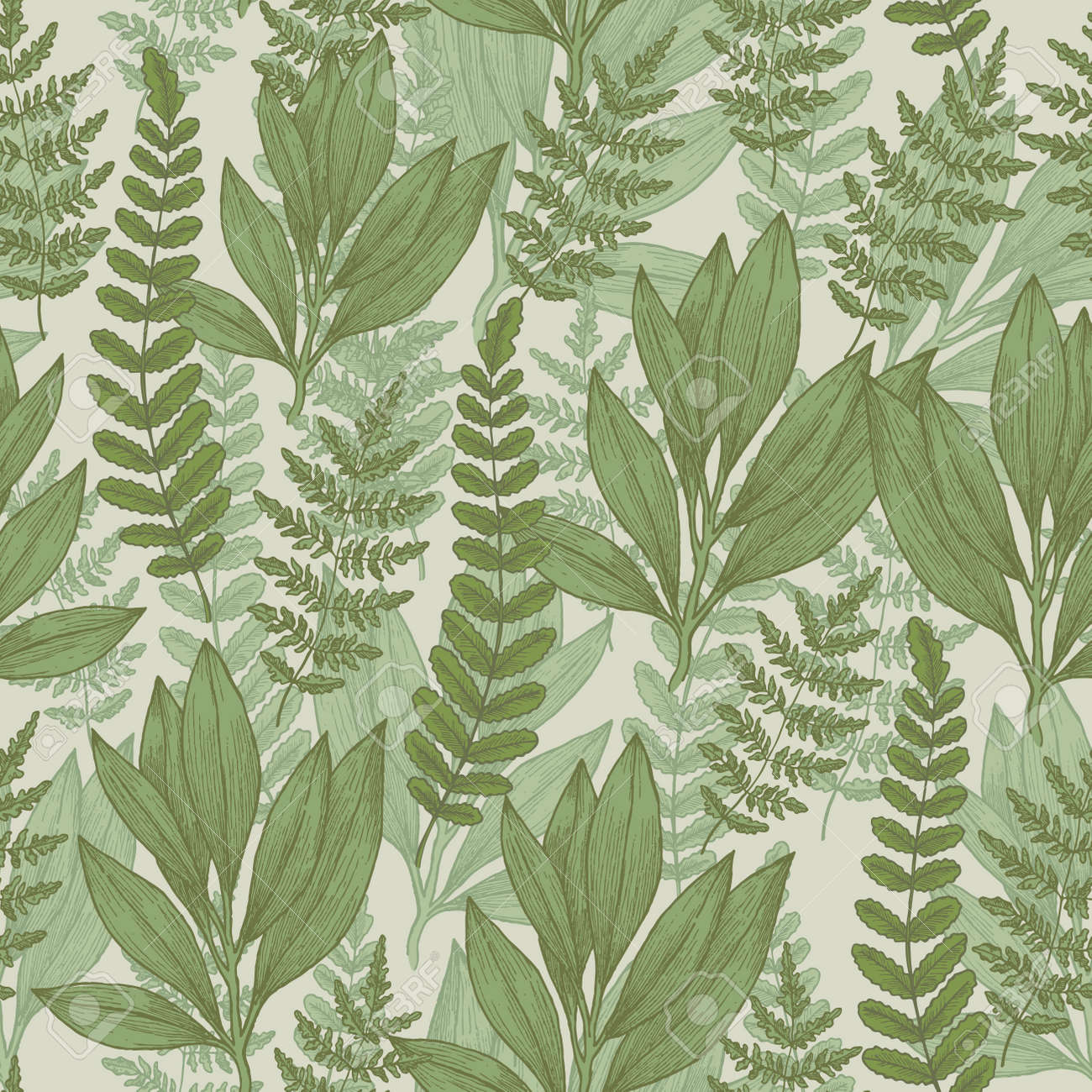 Wild Plants Seamless Pattern Vintage Floral Background Illustration Stock Photo Picture And Royalty Free Image Image 96898436