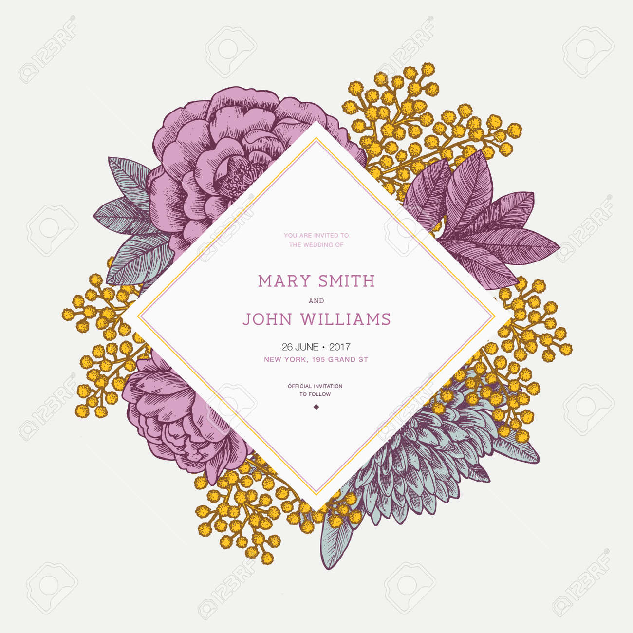 Business Wedding Card Outline Design Png