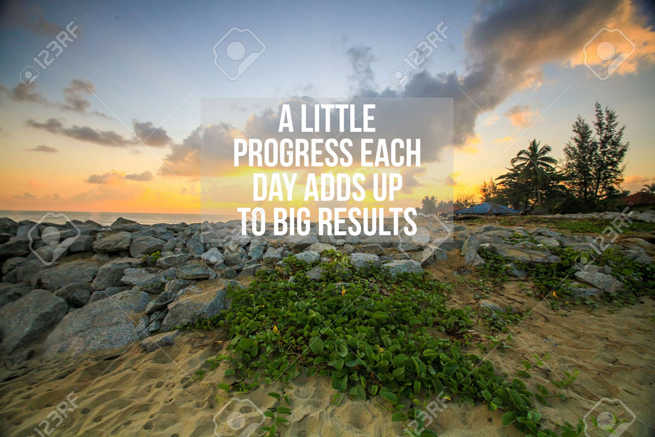 Inspirational Motivation Quotes On Clouds Blue Sky Background Stock Photo Picture And Royalty Free Image Image 117608502