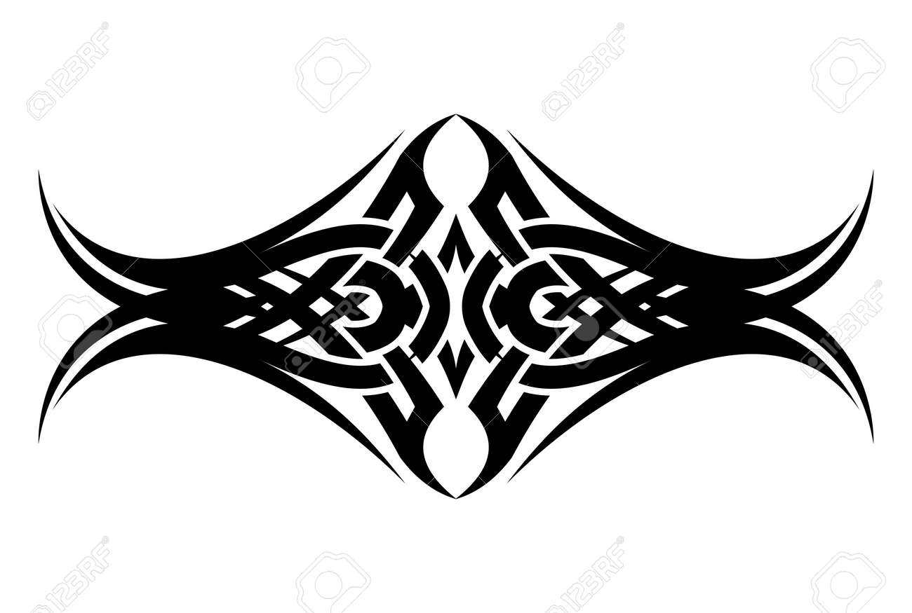 Banque dimages tribal abstract face vector tattoo