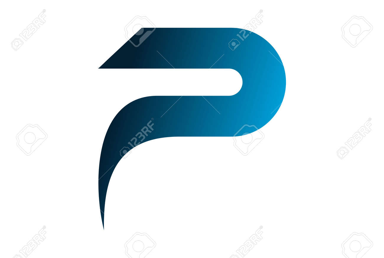 Abstract letter p design icon design. - 100782032