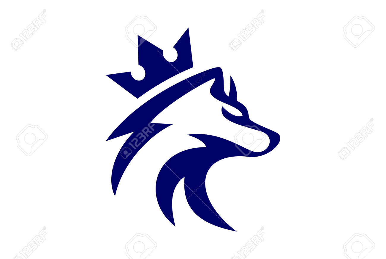 king wolf logo vector icon royalty free cliparts vectors and stock