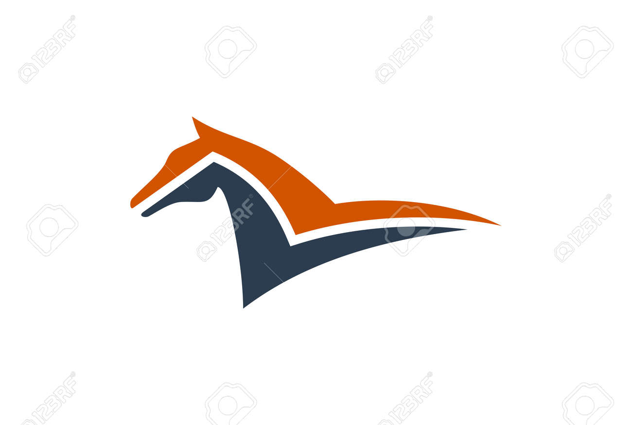 Abstract Horse Letter N Concept Logo Icon Royalty Free Cliparts Vectors And Stock Illustration Image 117182495