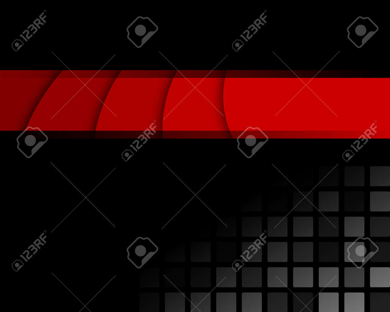Black and red abstract background Full editable vector illustration - 27390312