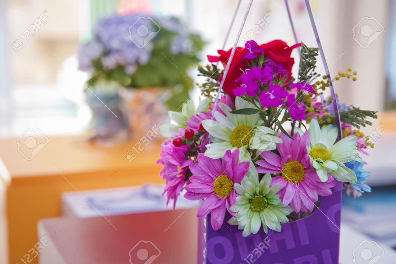 Purple flower bouquet made from paper purple flower isolated stock purple flower bouquet made from paper purple flower isolated stock photo 97238928 izmirmasajfo