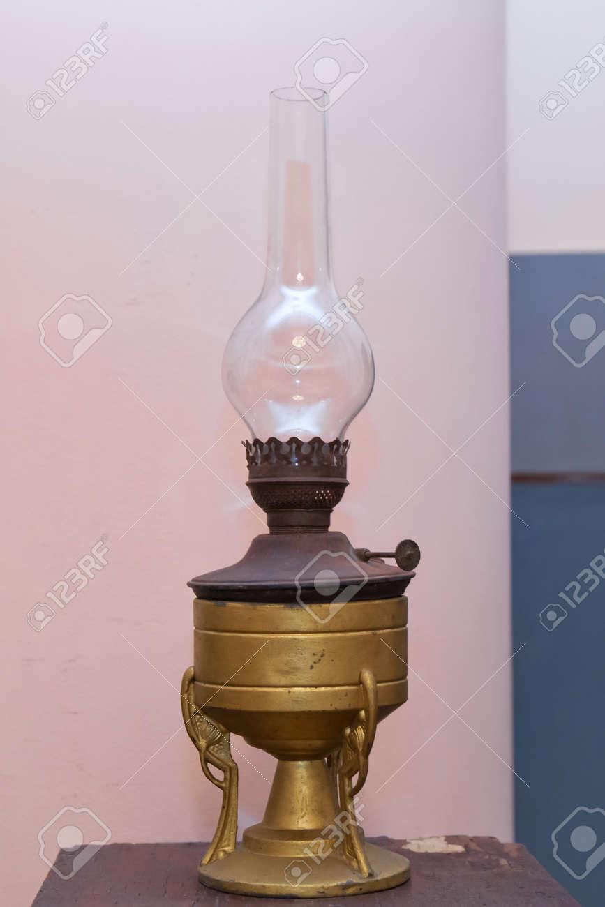 Kerosene Lamp On Rustic Wooden Table Vintage Kerosene Lamp On Stock Photo Picture And Royalty Free Image Image 129927992
