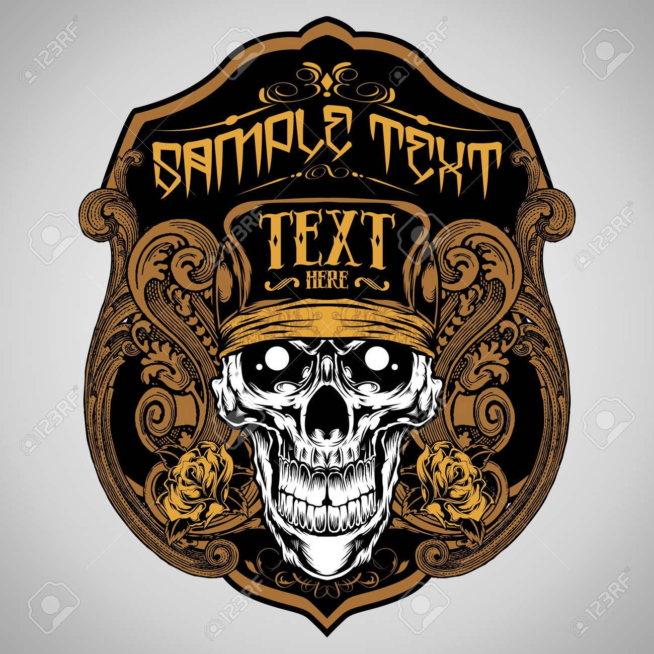 Design t shirts logo - Vector Illustration Skull T Shirt Design Logos Stock Vector 18678185